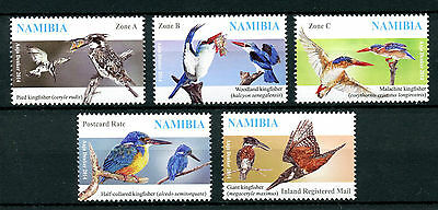 Namibia 2014 MNH Kingfishers 5v Set Malachite Giant Kingfisher Birds Stamps