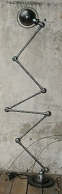Jielde French Industrial Floor Lamp 6 Arms Graphit Wax Patina