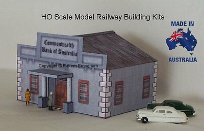 HO Scale Old Style Bank With Optional Rebates, Model Railway Building Kit - CBA1