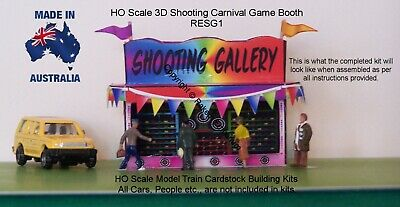HO Scale Shooting Gallery Carnival Booth 3D Model Railway Building Kit - RESG1