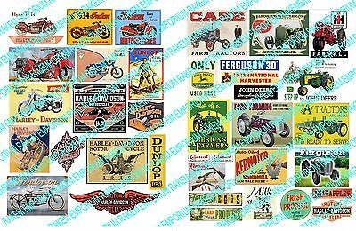 O Scale Bike Farm Signs, Model Railway Signs - OBF1 - 37 Signs