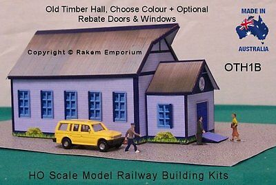 HO Scale Hall Old Style Timber with Optional Rebates Model Railway Building Kit