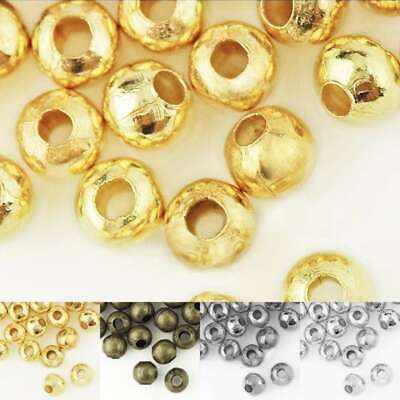 20g(50-120pcs) Crimp End Beads Round Jewelry Craft Findings Wholesale 4/6mm
