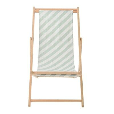 Bloomingville Deck Chair Green/White striped