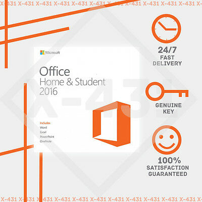 Office 2016 Home and Student Genuine 1 Pc Download