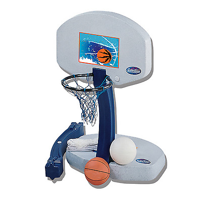 Basketball Hoop Goal Swimming Pool Volleyball Kids Fun Game 2-in-1 Heavy Duty