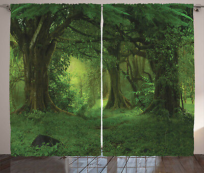 Nature Curtains Fresh Morning Scenery Window Drapes 2 Panel Set 108x90 Inches