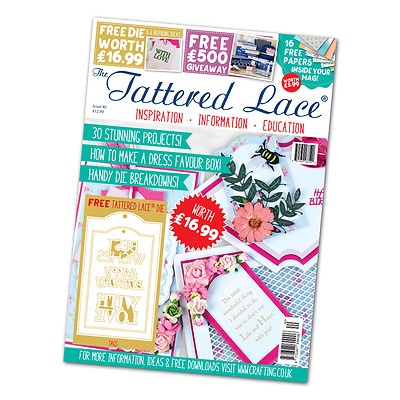 Tattered Lace Magazine Issue 40 With FREE TAGS & SENTIMENTS Dies and FREE UK P&P
