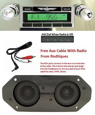 1964-65 Ford Thunderbird Stereo Radio + Free Aux Cable + Dash Speakers 230