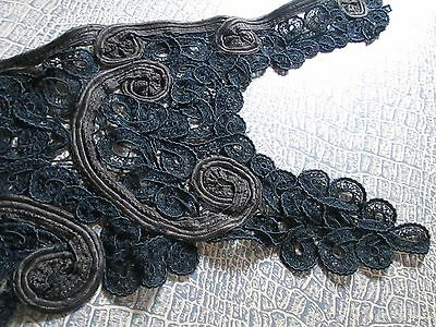 Antique Victorian collar handmade from black & brown silk/France