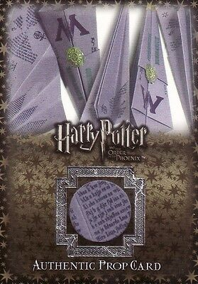 Harry Potter Order of the Phoenix Update Ministry's Flying Memo P2 Prop Card