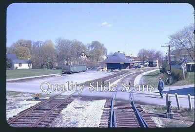 Orig. Slide Western Maryland RR Scene New Oxford, PA 2-72 From Train