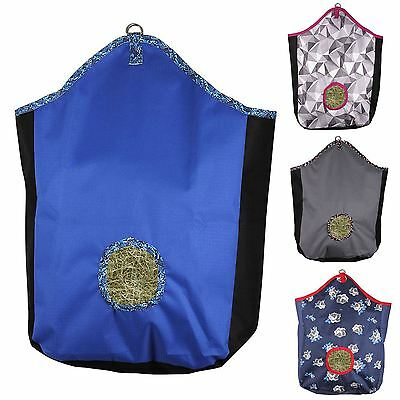 QHP Luxury Turnout Fabric Printed Multi Coloured Matching Equestrian Hay Bag