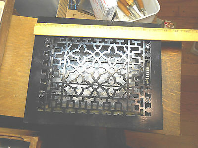 """c.1885-86 Tuttle & Bailey 8"""" x 10"""" Ornate Cast Iron Heating / Air Grate Vent"""