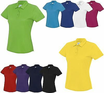 AWDis Cool Polo Ladies Shirt Gym Running Sports Wear Wicking Women Shirt