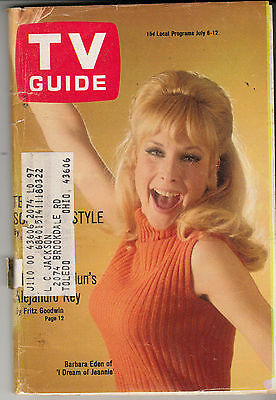 TV GUIDE (JULY 6-12 1968) Issue #797 * Barbara Eden cover *