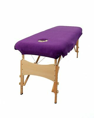Aztex Massage Couch Cover With Face Hole - Purple