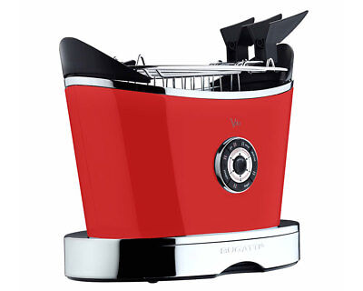 Bugatti 13-VOLOC3/UK Volo Gloss Red 2 Slice Toaster