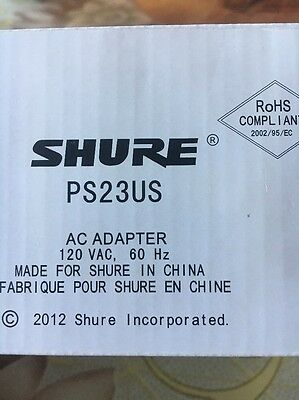 New Shure PS24US Power Supply Adapter Replaces PS20US  PS21US PS23US  FREE SHIP