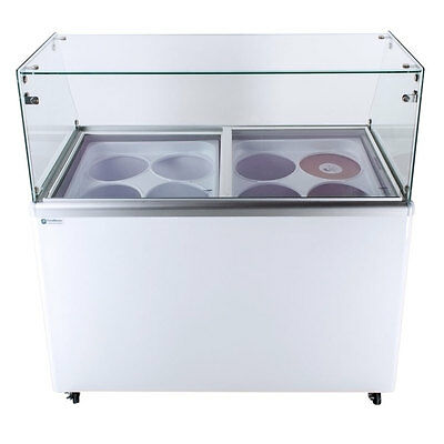 Commercial Ice Cream Dipping Cabinet, Straight Glass [EDC-8]