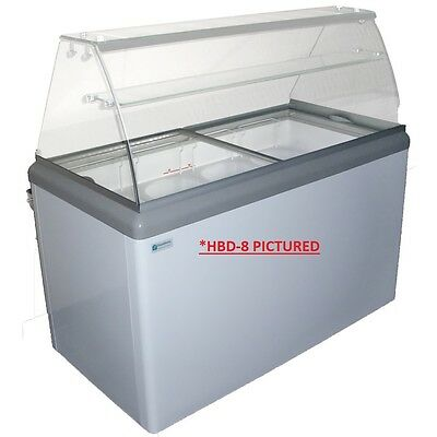 Commercial Ice Cream Dipping Cabinet, w/LED
