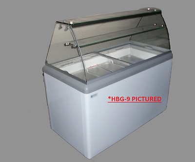 Commercial Gelato Dipping Cabinet, w/LED [HBG-4]