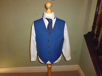 "Designer Browbands girls blue competition showing show waistcoat 30"" age 11-12"