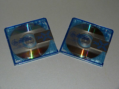 "2 Sony MD74-X   ""Shock Absorbing Mechanism""   Sammel Minidisc - limitiert - Rar"