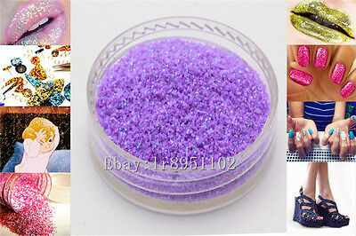 Plum AB 10g Nail Art GLITTER Sequins crafts DIY makeup Powder Crystals 1 Pack