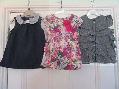 18-24m: 6 pretty summer tops/blouses - Floral/Stars - Baby Gap/ M&S/ H&M/French