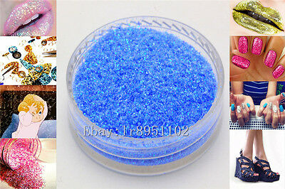 Blue sky AB 10g Nail Art GLITTER Sequins crafts DIY makeup Powder Crystals 1Pack