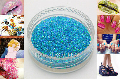 Blue lake 10g Nail Art GLITTER Sequins crafts DIY makeup Powder Crystals 1 Pack