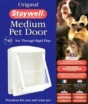 Staywell Original Pet Door Medium White Flap 740
