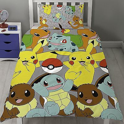 Pokemon 'Catch' Reversible Single Duvet Cover & Pillowcase Set