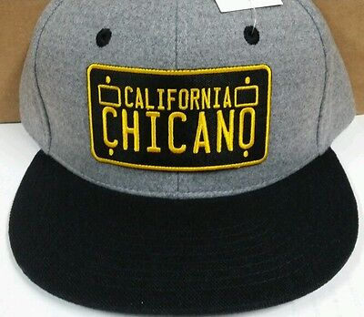 e6a23203262 CUSTOM CHICANO LOWRIDER Men Snapback Hat Wool Gray Black -  20.00 ...