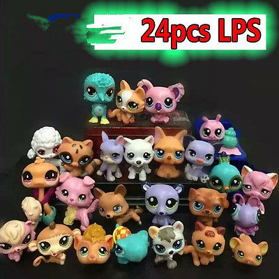 24pcs Fun Littlest Pet Shop Animals Figures Doll Set Kids Baby Boy Girl Toy Gift