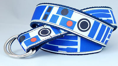Star Wars belt R2D2 hook and loop D-ring Handmade boys girls belt- MANY SIZES UK