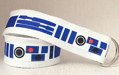 Star Wars belt R2D2 D-ring Handmade 1,5'' wide adult belt- MANY SIZES UK
