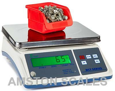 DIGITAL COUNTING PARTS COIN SCALE 16 x .005 LB 7.5 KG x 0.2 G 10 x 7 INCH TRAY