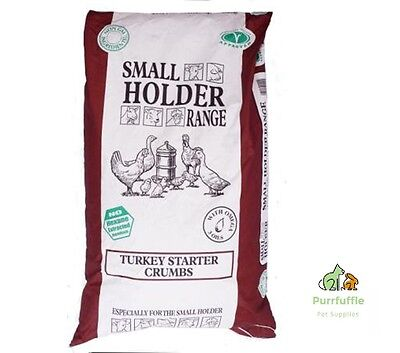 20Kg Allen & Page Small Holder Turkey / Quail / Game Starter Chick Crumbs Food