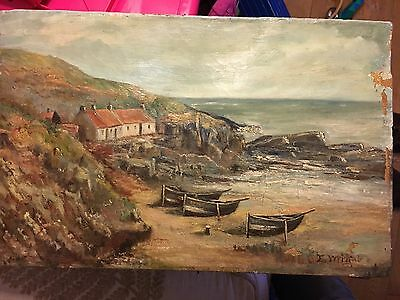 Scottish Oil On Canvas 19th Century Seascape Signed , Cadell Fergusson Interest