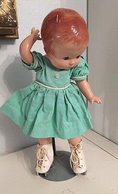 "Vintage Antique EFFANBEE 14.5"" PATSY ANN DOLL On Roller Skates"