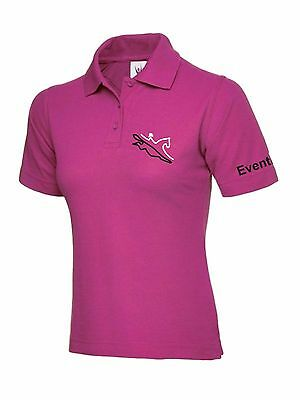 PINK Horse Riding Polo Shirt Ladies Women's Girls  Equestrian EVENTING