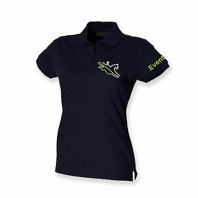 BLACK/LIME  Horse Riding Polo Shirt Ladies Women's Girls  Equestrian EVENTING