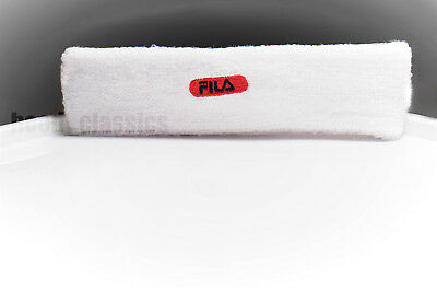 Fila Flexi Sweatband White Vintage Headband Retro Tennis HipHop Bboy Accessory