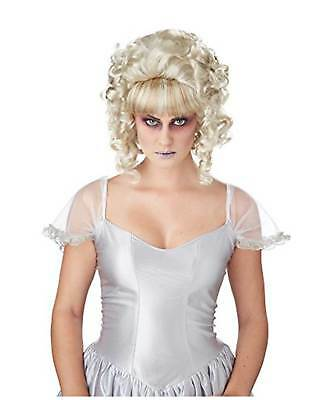 Womens Ghost Costume Wig Victorian Fashion Marie Antoinette White Blonde Curls