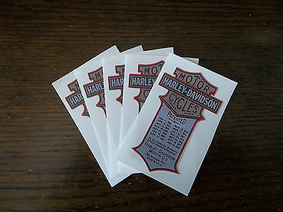 Harley-Davidson Motorcycles Patented Vinyl Sticker, Lot Of 5