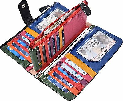 Womens Wallet Lady Trifold Genuine Leather Clutch Purse Holder Zip Card Girl NEW