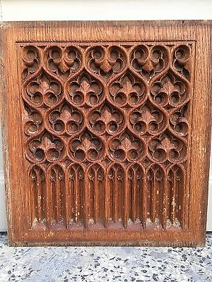Stunning Gothic Carved panel in oak/ wood A7