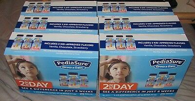 pediasure grow and gain shakes/18-8 ounce bottles/exp.01/01/18
